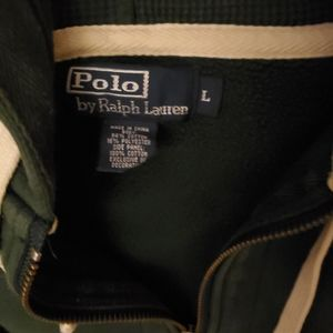 Ralph Lauren polo mens hoody green, used once